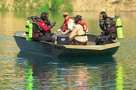 Divers Prepare to Enter The Water