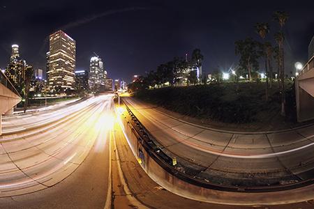LA 360 time lapse with contrast