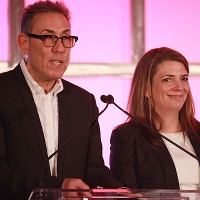 Advisory board co-chairs Marc Juris of WE tv and Nancy Daniels of TLC welcome delegates to Santa Monica