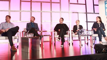 "YouTube Originals' Ben Relles, Barcroft Media's Sam Barcroft, Studio 71's Rabih Gholam, Fullscreen's Ashley Kaplan and AwesomenessTV's Shauna Phelan on ""Full Stream Ahead"""