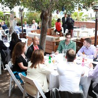 Delegates enjoy a networking lunch on the third and final day of the 2016 edition of Realscreen West