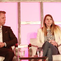 """Pilgrim Media's Johnny Gould and DanceOn CEO Amanda Taylor on the """"Upping the Game: Revitalizing Competition Formats"""" panel"""