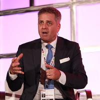 """Dick Clark Company's Mark L. Walberg moderates the """"Game On: 75 Years of Game Shows"""" panel"""