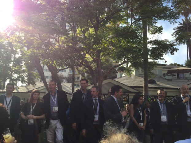 The board gathered at the PactUS opening cocktail at Realscreen West on Wednesday (June 8).