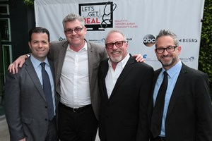 l to r: apa's marc kamler, itv entertainment's david eilenberg, bobcat's thom beers, apa's hayden meyer at the let's get real event.