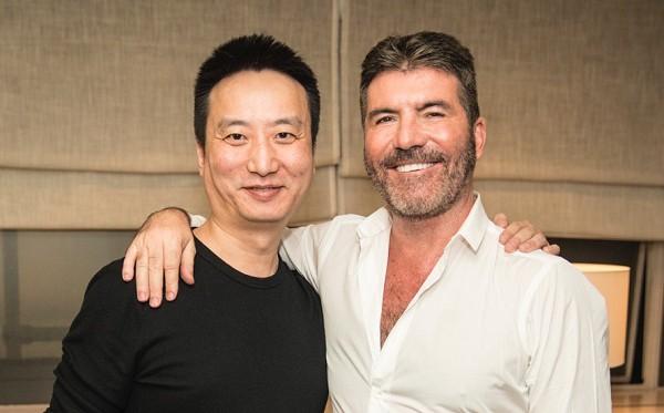 Star China Jin Lei and Syco Simon Cowell