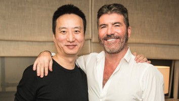 Star China Jin Lei and Syco Simon Cowell