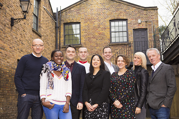 Expectation Team (L-R Tim Hincks, Ros Owino, Nick Mather, Charlie Jones, Sou Pang, Nick Samwell-Smith, Nerys Evans, Kellie Turner, Peter Fincham)