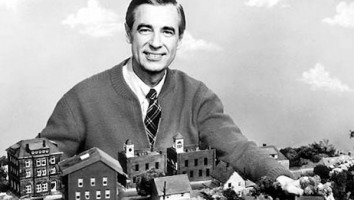 Fred Rogers with the Neighborhood Seen on his show. ONE TIME USE