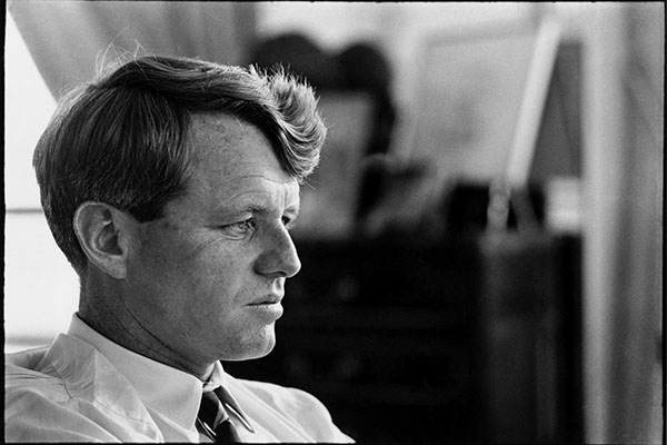 USA. New York City. 1966. Portrait of Robert KENNEDY in his apartment.