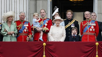 Senior members of Britain's royal family stand on the balcony of Buckingham Palace in the annual Trooping of the Colour ceremony to celebrate the Queen's official birthday in central London