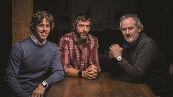 From left to right: Boat Rocker Media co-executive chairmen David Fortier and Ivan Schneeberg, CEO John Young. Photo: Matt Forsythe (From Playback)