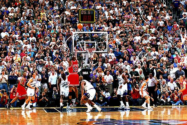 Michael Jordan Action Portrait