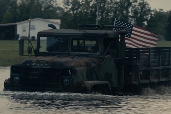 Truck flag in water (2)