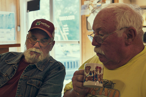 Monrovia, Indiana Men at Cafe