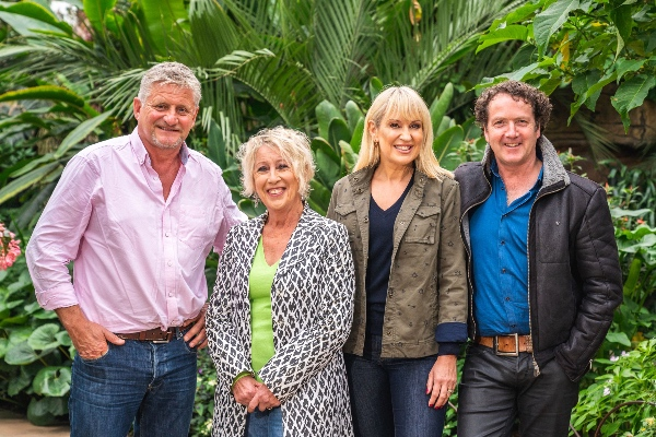 Great_British_Gardening_Challenge_1 L-R Mark Gregory, Carol Klein, Nicki Chapman, Diarmuid Gavin-2
