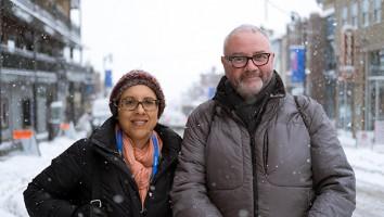 Simon Kilmurry and Carrie Lozano