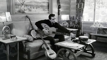 Johnny Cash at his home in California, 1960.Credit: Sony Music Archives