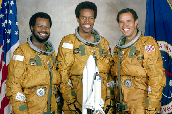 BLACK IN SPACE BREAKING THE COLOR BARRIER