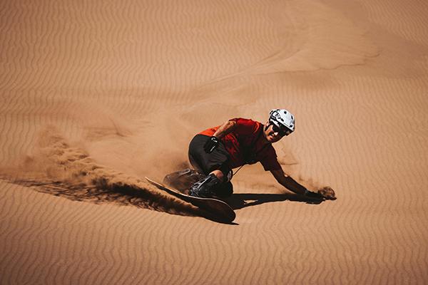 Sandboarding on Dragon Hill