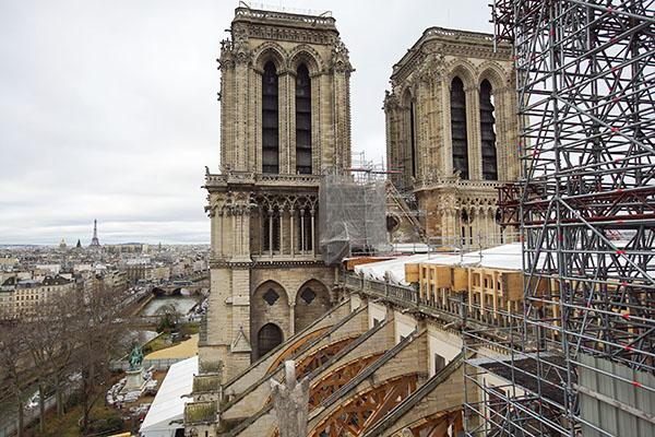 Notre-Dame Towers WA Paris inc Eiffel Tower