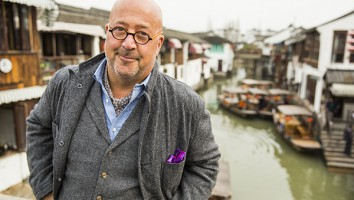 Host Andrew Zimmern, Shanghai, March 20, 2016
