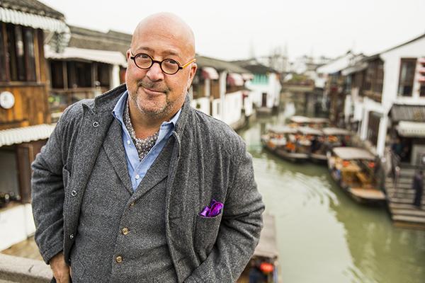 Host Andrew Zimmern, Shanghai, March 20, 2016