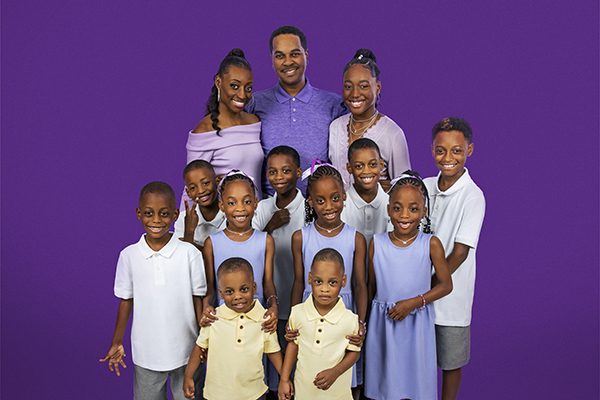 The Derrico family, as seen on TLC's Doubling Down with the Derricos.