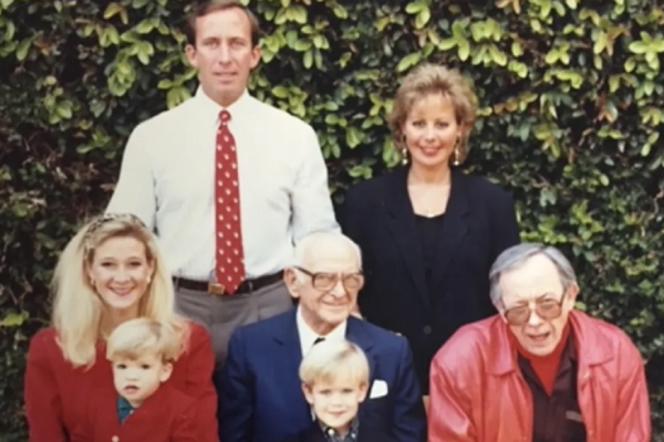 Hammer Family - Michael and Casey standing. Dru with Viktor. Armand holding Armie and Julian Hammer